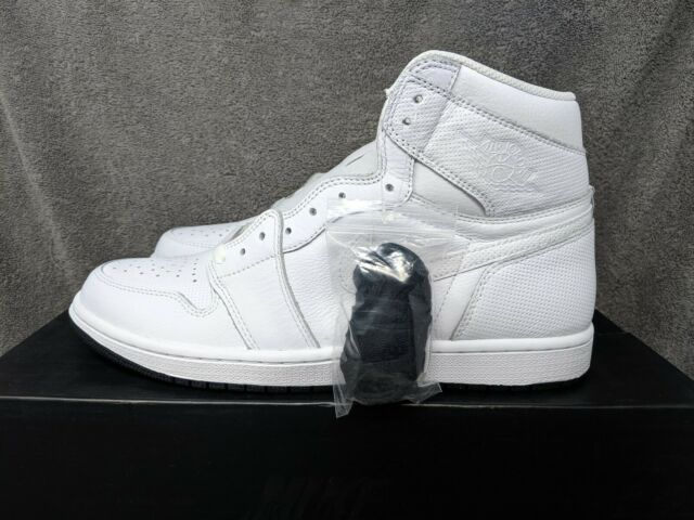 d2c0ccf2245 Nike Air Jordan 1 Retro High OG White Perforated Leather 555088-100 Mens  Size 10