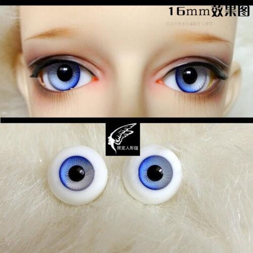 16mm Gradual Blue Eyeballs For BJD AOD DOD Doll Dollfie Glass Eyes Outfit