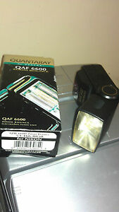 New Quantaray QAF 6600 Shoe Mount Flash Nikon 53-166-0850 Qaf 6600 Zoom Bounce