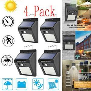 4-Pack-Outdoor-Solarleuchte-Bewegungssensor-Wand-Wasserdicht-Garten-Hof-Lampe-20-LED