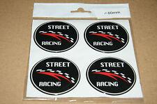 4 x 60mm Aufkleber *STREET RACING*Rad-Nabendeckel Nabenkappen Felgendeckel