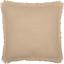 BURLAP VINTAGE Fabric Euro Sham Fringed Ruffle Khaki Primitive Rustic VHC Brands