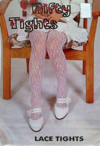 Ivory White Lace Tights Flower Girl Christening Flower Girl Baby Party  0m-14y