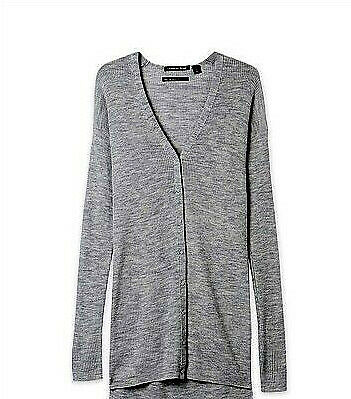 NWT Designer COUNTRY ROAD  Pure WOOL Slim Cardigan  Mid Grey Marle M