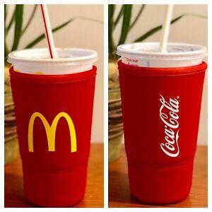 McDonald-s-Koozie-Coca-Cola-Neoprene-Sleeve-for-32-oz-large-size-Plastic-Cup