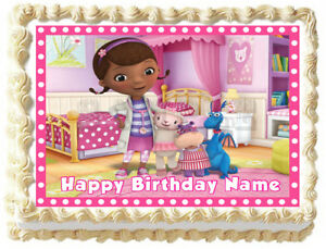Miraculous 1 4 Sheet Cake Frosting Doc Mcstuffins Birthday Party Edible Personalised Birthday Cards Beptaeletsinfo