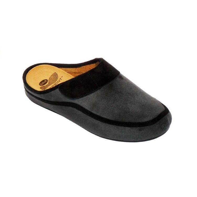 Gentleman/Lady SCHOLL MEN'S FLIP FLOPS BIOPRINT Big FOOTBED LAS CONDES GREY/BLACK Big BIOPRINT clearance sale Bright colors Clearance sale WG1196 cc79f4