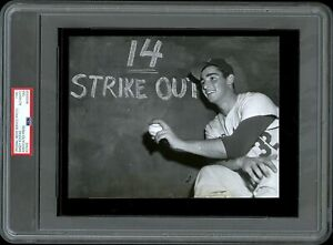 Sandy-Koufax-1955-Rookie-Brooklyn-Dodgers-Type-1-Original-Photo-PSA-DNA-14-K-039-s