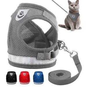 Leash-Small-Pet-Control-Harness-Dog-Cat-Soft-Mesh-Walk-Collar-Safety-Vest-Strap
