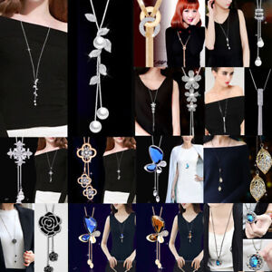 Wholesale-Fashion-Long-Tassel-Necklace-Sweater-Chain-Crystal-Women-Jewelry-Gift