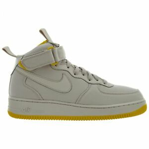 059729bbce4d61 Nike Air Force 1 Mid Canvas Mens AH6770-002 Desert Sand Sulfur Shoes ...