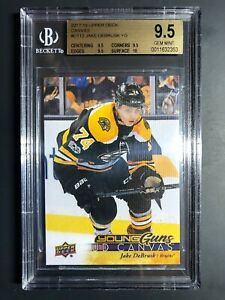 2017-18 Upper Deck Jake DeBrusk Young Guns Canvas Rookie BGS 9.5 True Gem