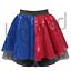 Harlequin SKIRT Women/'s HARLEY QUINN Costume Sequin Skirt FANCY DRESS Jester