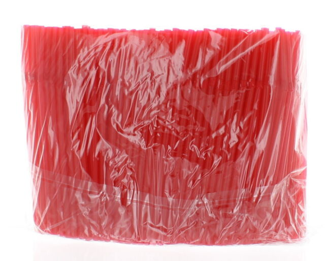 Lot of 2000 Red Flexible Drinking Straws Bendable Party Restaurant Bulk Supplies