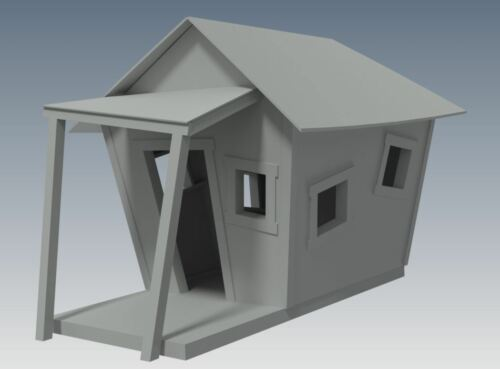 CROOKED CUBBY HOUSE Building Plans - LOONEY TUNES Design PLAY HOUSE V05
