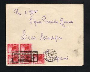 Storia-Postale-Repubblica-Lettera-viaggiata-da-Palermo-per-Trapani-3l-democratic
