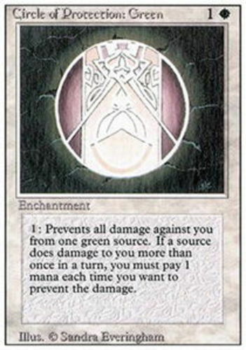 Green MTG 3rd Edition Revised NM Magic Regular 4x Circle of Protection