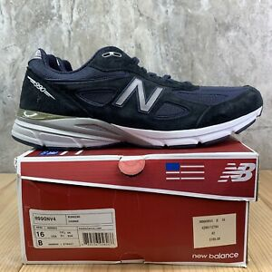 New-Balance-M990NV4-Size-16-Mens-Navy-Blue-Casual-Shoes