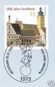 Charitable Rfa 2005: Forchheim Nº 2438 Avec Le Bonner Ersttags-cachet Spécial! 1a Reçu!-rstempel! 1a Erhalten!fr-fr Afficher Le Titre D'origine