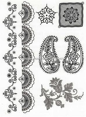 HENNA LARGE SHEET TAT 2498 BLACK  Temporary Tattoo