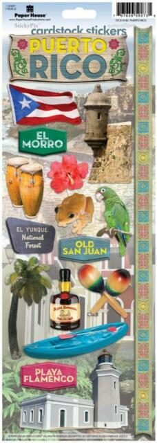 PAPER HOUSE PUERTO RICO TRAVEL VACATION CARDSTOCK SCRAPBOOK STICKERS