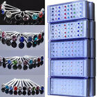 CHIC Wholesale Lot 40Pcs Mixed Color Crystal 925 Solid Silver Ear Stud Earrings