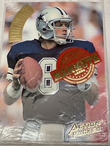 1994 Action Packed Football Troy Aikman Mammoth Cards.Prototype #MMP