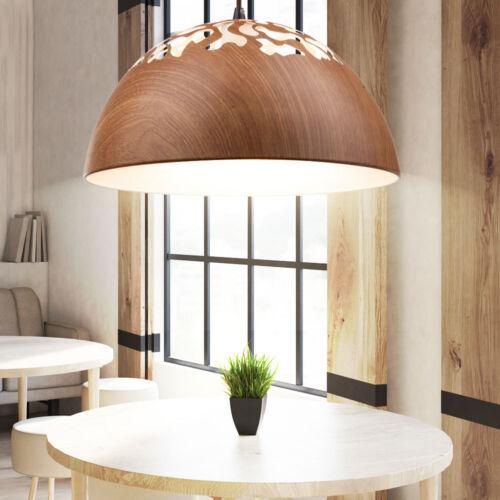 Decken Lampe Holz Pendel Leuchte runde Ess Wohn Zimmer Tisch Hänge Beleuchtung