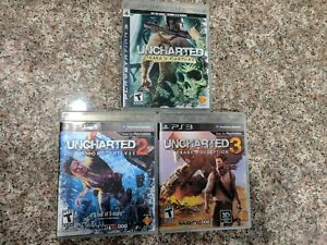 Uncharted Lot 1 2 3 Complete Drake's Fortune Among Thieves Drake's Deception