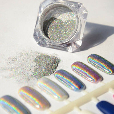 Rainbow Glitter Holographic 1g/Box Laser Powder Nail Chrome Pigments Decoration