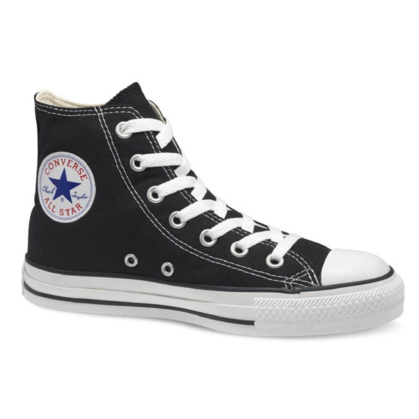 Converse All Star HI In Tela men women shoes Nere Alte Scarpa Nera M9160C