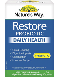 Nature-039-s-Way-Restore-Daily-Probiotic-Capsules-28-pack-BRAND-NEW