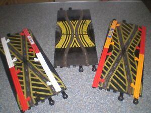 Capable Scalextric Classic Skid Chicane & 2 X Crossover Pistes Avec Arceau De-afficher Le Titre D'origine Belle Apparence