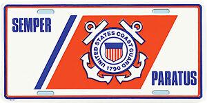 US-COAST-GUARD-USCG-SEMPER-PARATUS-METAL-LICENSE-PLATE-MADE-IN-THE-USA