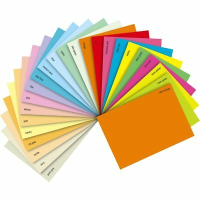 Knowledgeable A4 A5 Coloured Arts & Craft Sheets 160gsm Card Bright Pastel Neon Laser Inkjet Crafts