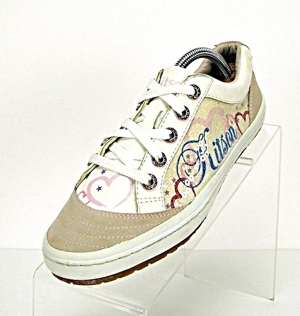 KITSON L.A. women's Size 7 Leather Upper Pink Hart sneakers shoes