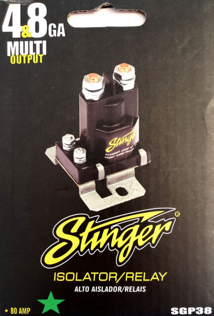 Stinger Sgp38 Amp Battery Isolator And Audio Relay 80 Amp