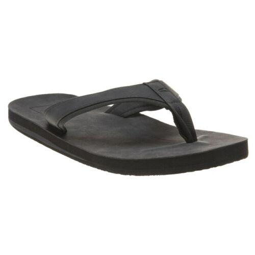 New Mens Oneill Black Plus Textile Sandals Flip Flops Slip On