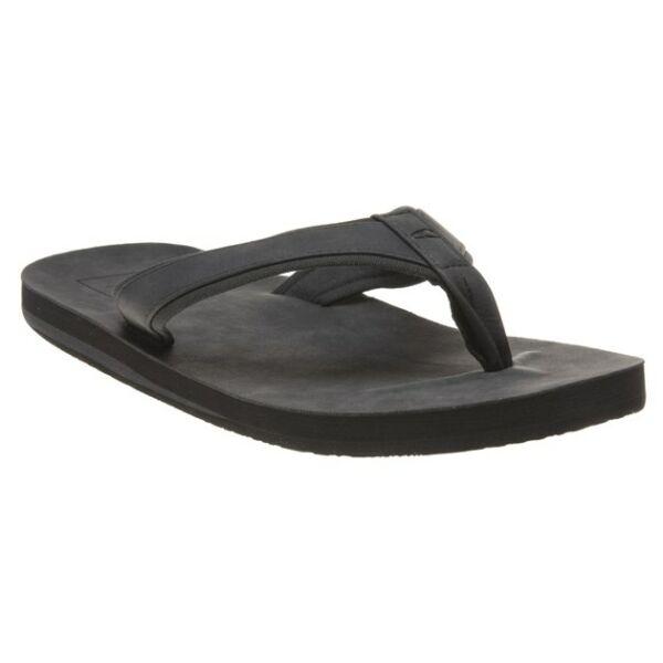100% Verdadero Nuevo Para Hombres Sandalias Textil Oneill Negro Plus Flip Flop Resbalón En-ver