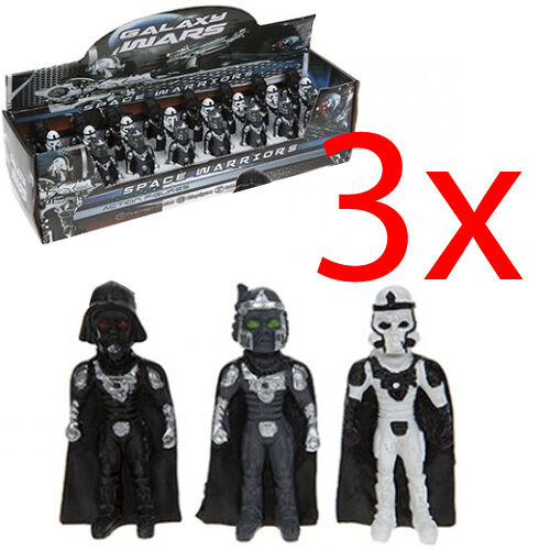 SET OF 3 GALAXY WARS FIGURES GIFT COLLECTIBLES ACTION KIDS STATUE POLYSTONE NEW