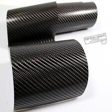 (11,11€/m²) Premium 4D Charbon Feuille autocollante Noir Brillant 100 x 152 cm