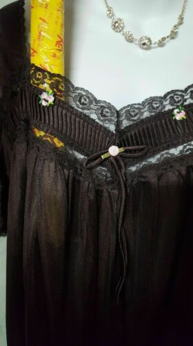 Comfort Choice Brown Nightgown Long Short Sleeve Size M L 1X 2X 3X 4X 5X 6X
