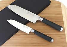 KATSURA Japanese High Carbon Steel 7 inch Santoku Chef knife set vs SHUN RAN