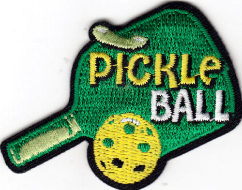 PICKLE BALL Iron On Patch Sport Game Competition