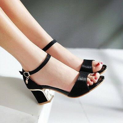 New Women Sandal Thick heel Open toe Buckle strap Fashion Sexy Date Dress Casual