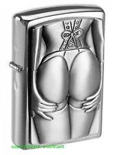 ZIPPO Feuerzeug Stocking Girl Emblem Trick-Feuerzeug Erotik-Girl Sexy NEU OVP