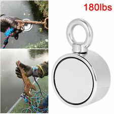 180lbs Pulling Force Round Double Sided Fishing Magnet Super Strong Neodymium