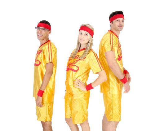 Adult Yellow Sports Comedy Movie Dodgeball Average Joe/'s Costume Jersey Set