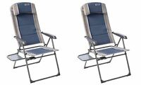 2 X Quest Elite Ragley Pro Blue Recline Chair With Side Table