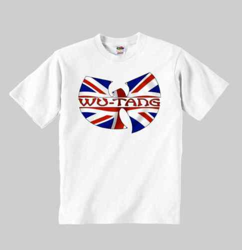 wu tang clan UK t-shirt kid wu tang shirt clothing toddler children size:1-8 y